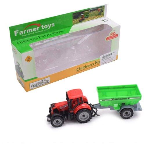 Купить Трактор с прицепом без механизма Shantoy Gepay FC17-34, Наша игрушка, Машинки и техника