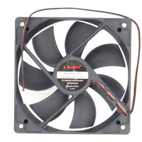 Вентилятор для корпуса Gembird D12025HM-4 черный 1 шт.