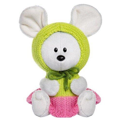 Фото - Мягкая игрушка Лесята Мышка Пшоня в платье с капюшоном 15 см мягкая игрушка лесята ёжик игоша в свитере 15 см