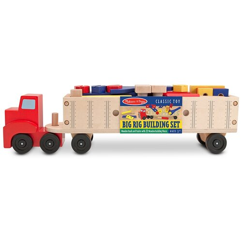 Фото - Конструктор Melissa & Doug Classic Toy 2758 Big Rig Building Truck Wooden Play Set wooden children simulation pretend play small doctor toy suit kids gift