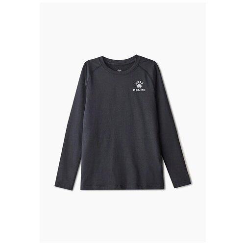 Термолонгслив детский / термобелье верх KELME Tech fit long sleeve (Thin) KIDS, черный, размер 130