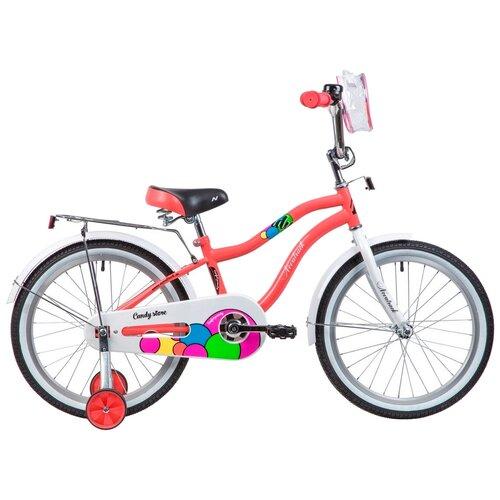 Детский велосипед Novatrack Candy 20 (2019) коралловый (требует финальной сборки)