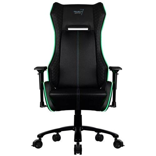 p7 ch2 air Компьютерное кресло AeroCool P7 GC1 AIR RGB игровое, обивка: искусственная кожа, цвет: черный
