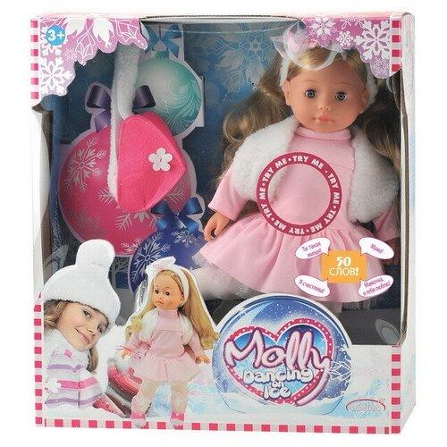 Фото - Кукла DIMIAN Molly Фигуристка 40см, интерактивная, частично мягконабивная, с аксессуарами и звуковыми эффектами dimian