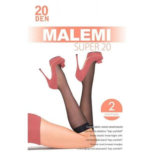 Капроновые гольфы Malemi Super 20, 2 пары, размер ONE SIZE, melon