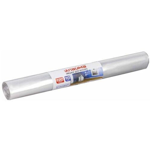 Фото - Мешки для мусора Лайма 605540 120 л, 10 шт., прозрачный мешки для мусора спринт пласт 120 л 10 шт