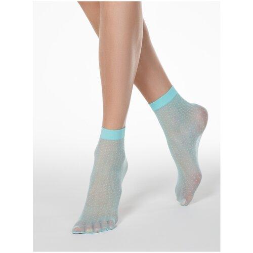 Капроновые носки Conte Elegant 16С-127СП, размер 23-25, turquoise