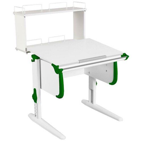 Фото - Стол детский ДЭМИ White-Стандарт СУТ-24-01Д 75x82 см белый/зеленый/белый стол дэми white double сут 25 01д 120x82 см клен зеленый бежевый