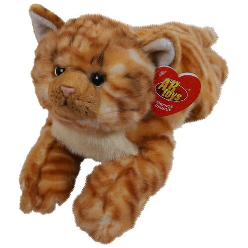 Купить Мягкая игрушка ABtoys Домашние любимцы Котик рыжий, 30 см игрушка мягкая, Мягкие игрушки