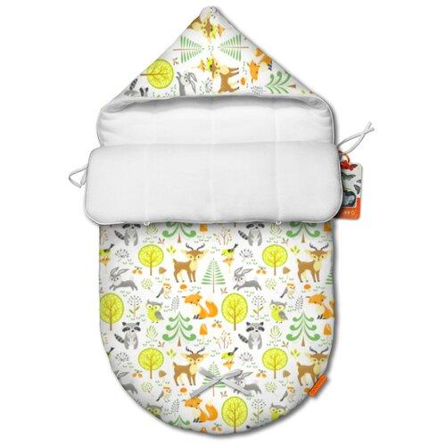 Купить Летний конверт для новорожденного QuQuBaby Сказочный лес, Конверты и спальные мешки