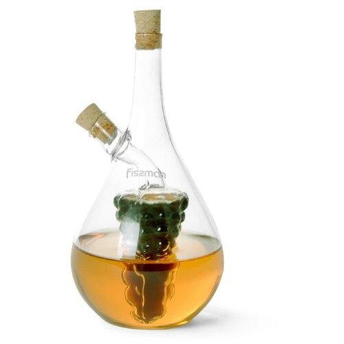 Бутылочка 40/450мл для масла и уксуса 2-в-1 (стекло) fissman бутылочка для масла или уксуса 150 мл прозрачный серебристый белый