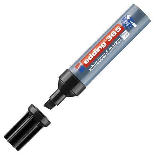 Купить Маркер для досок EDDING 365/1 черный 2-7 мм, скошенный наконечник, Маркеры