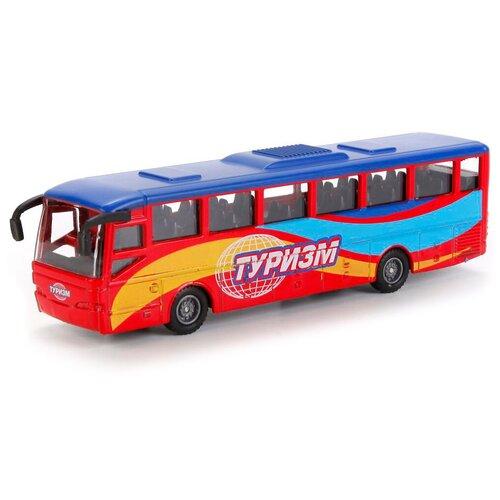 Фото - Автобус ТЕХНОПАРК Туризм рейсовый (SB-16-05), 15 см, голубой/красный автобус технопарк рейсовый sb 16 88 blc 7 5 см желтый