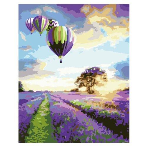 Купить Цветной картина по номерам «Полет над лавандой» 40х50 см (MG575), Картины по номерам и контурам