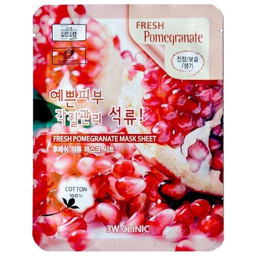 Фото - 3W Clinic Fresh Pomegranate Mask Sheet тканевая маска с экстрактом граната, 23 мл 3w clinic тканевая маска с экстрактом алоэ 23 мл