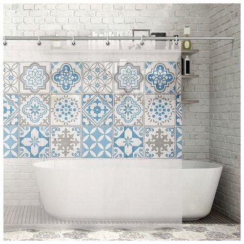 Фото - Штора для ванной Луиза, 180х180 см. EVA 3820762 штора для ванной доляна графика 180х180 732658 синий