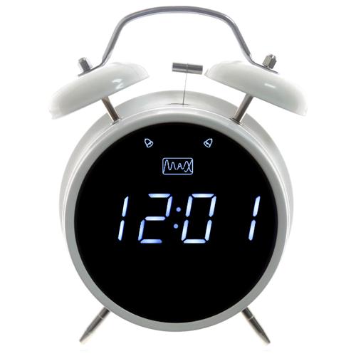 Часы будильник MAX White