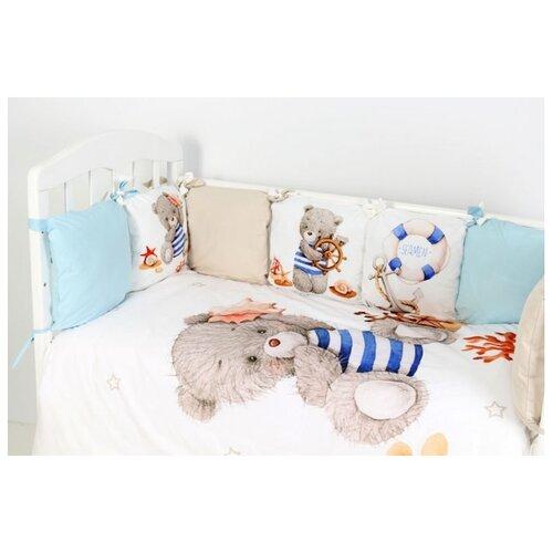 Фото - Топотушки Комплект в кроватку Морской круиз (6 предметов) белый комплекты в кроватку топотушки соня 6 предметов