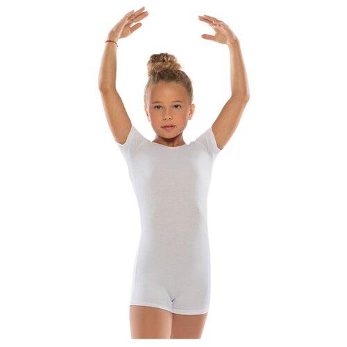 Комбинезон гимнастический, кор. рукав,х/б белый, размер 40 4886150