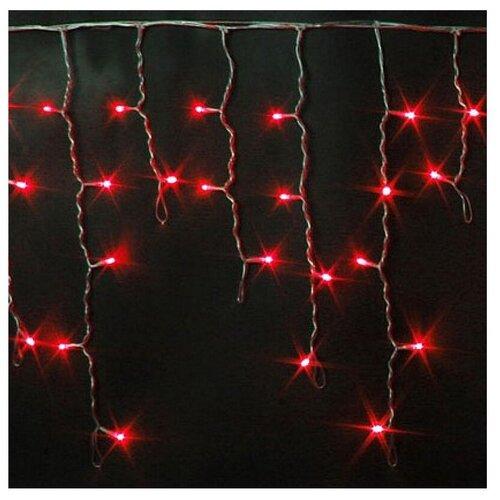 Гирлянда Rich LED Бахрома RL-i3*0.5-T, 300 х 50 см, 112 ламп, красные диоды/прозрачный провод
