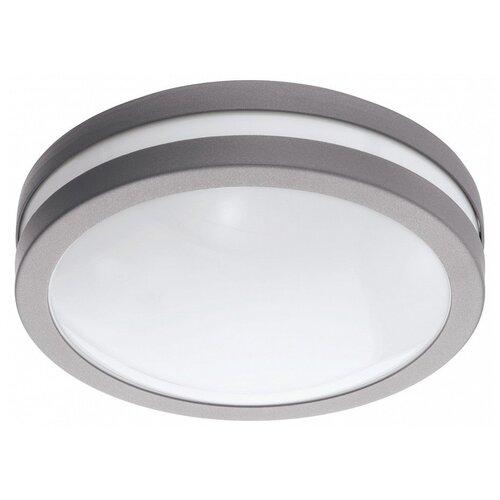 Фото - Накладной светильник Eglo, 1х14W, серый, размеры (мм)-260x95, 3000К, плафон - белый накладной светильник novotech 3х12w белый размеры мм 105x38x236 3000к плафон белый черный