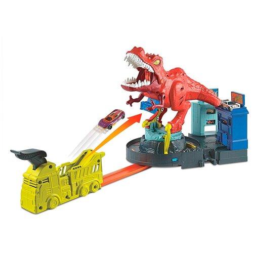 Трек Hot Wheels City T-Rex Rampage GFH88 launcher track t rex rampage hot wheels