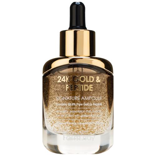 Купить Farmstay 24K Gold & Peptide Signature Ampoule Ампульная сыворотка для лица с золотом и пептидами, 35 мл