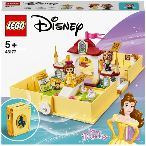 Конструктор LEGO Disney Princess 43177 Книга сказочных приключений Белль конструктор lego disney princess 43176 книга сказочных приключений ариэль