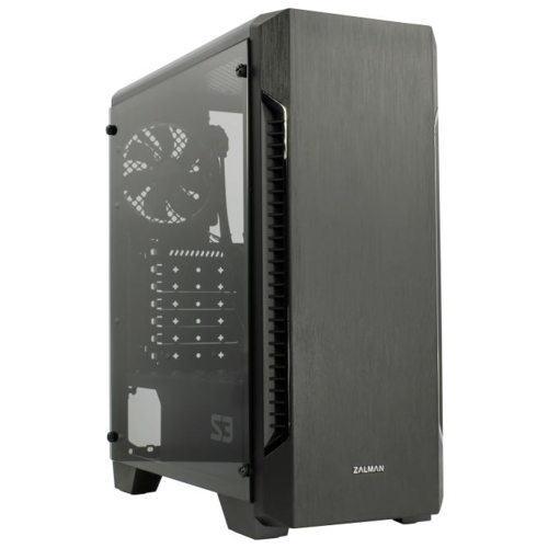 корпус zalman s3 black Корпус MidiTower Zalman S3 TEMPERED GLASS WINDOW black (ATX, mATX, Mini-ITX, USB2.0x2, USB3.0x1, без БП) (S3 TG)