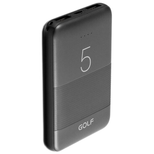 Внешний аккумулятор GOLF G95 5000 mAh 2*USB черный