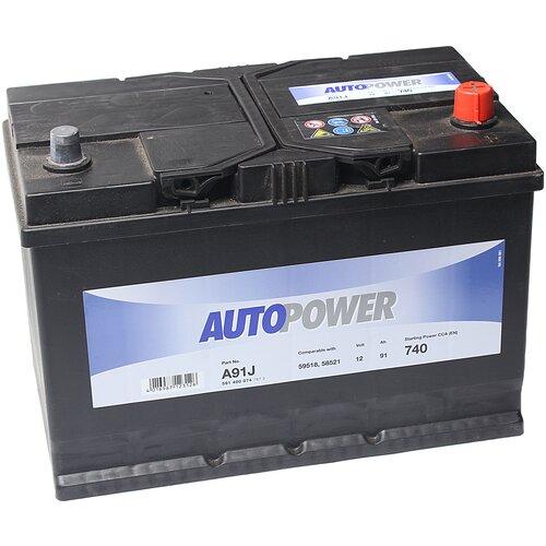 Автомобильный аккумулятор Autopower A91J