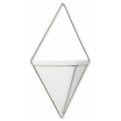Декор для стен Trigg, большой, белый/никель