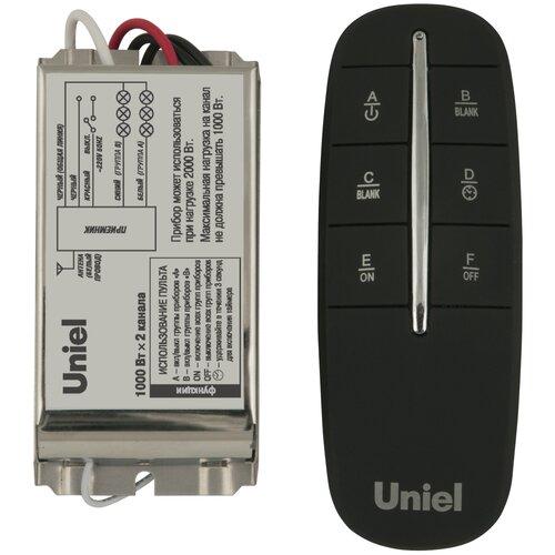 Пульт управления Uniel световыми и бытовыми приборами с таймером (2 прибора, 2 канала) 30м UCH-P002-G2-1000W-30M