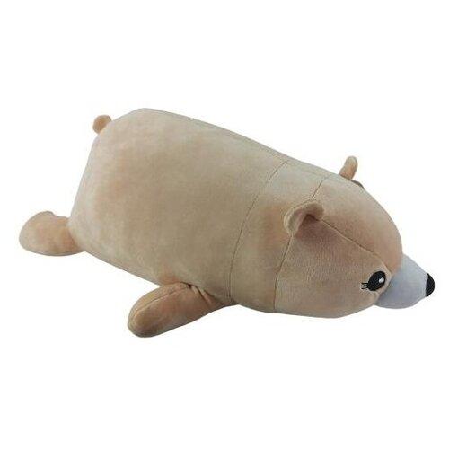Купить Игрушка-подушка ABtoys Super soft Медведь бежевый 45 см, Мягкие игрушки