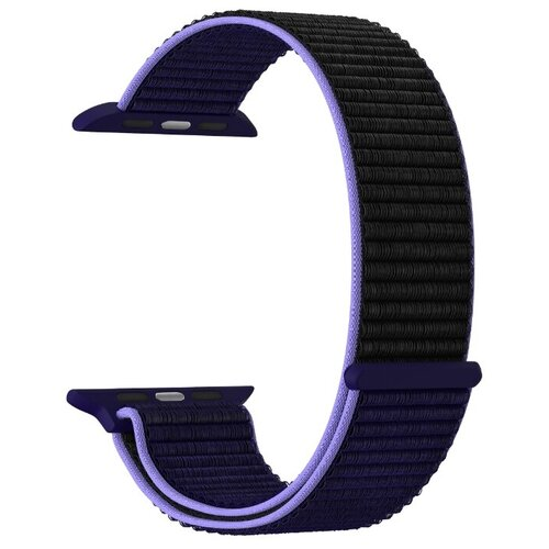 Фото - Нейлоновый ремешок для Apple Watch 42/44 mm LYAMBDA VEGA DS-GN-02-44-43 Blue-black нейлоновый ремешок для apple watch 42 44 mm lyambda vega ds gn 02 44 6 gray white