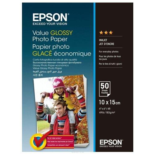Фото - Бумага Epson A6 Value Glossy Photo Paper 183 г/м² 50 лист., белый бумага revcol a6 127760 200 г м² 500 лист белый