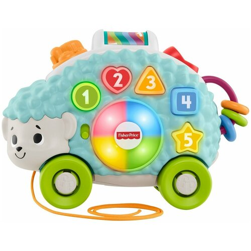 Фото - Интерактивная развивающая игрушка Fisher-Price Ежик (GJB14), голубой развивающая игрушка fisher price веселые ритмы бибо бибель fcw42