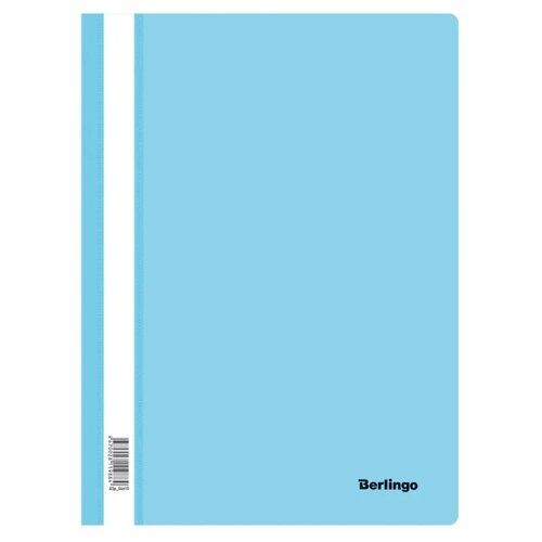 Berlingo Папка-скоросшиватель с прозрачным верхом А4, пластик 180 мкм 20 шт. аквамарин