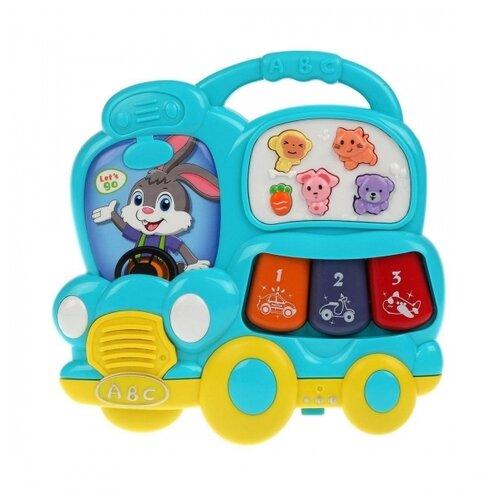 Музыкальная игрушка Жирафики Машинка-пианино звук, свет
