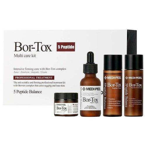 Набор для лица с эффектом ботокса MEDI-PEEL Bor-Tox 5 Peptide Multi Care Kit (4 ед) medi peel 5gf bor tox peptide ampoule сыворотка для лица с эффектом ботокса 30 мл