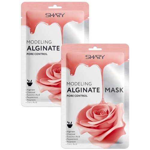 Shary Моделирующая альгинатная маска Контроль над порами, 28 г, 2 уп. shary альгинатная маска контурная подтяжка 28 г