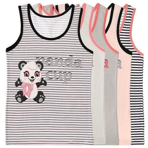 Купить Майка для девочек 4971912PA, Цвет: Микс, Размер: 6/7, 5шт. в упаковке, Donella, Белье и купальники