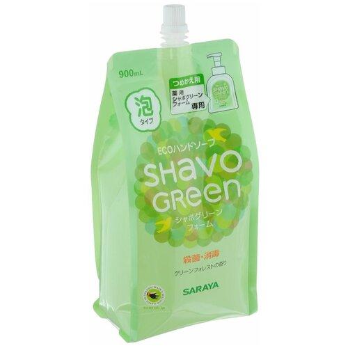 Мыло жидкое Saraya Shavo Green (наполнитель), 900 мл