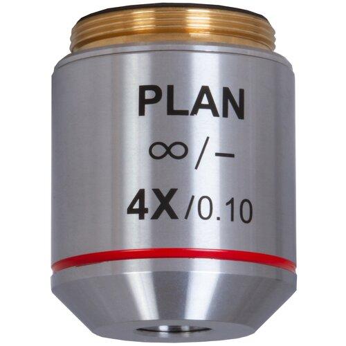 Фото - Объектив LEVENHUK MED 4x/бесконечность 76074 хром объектив levenhuk med 20x 76066 серебристый
