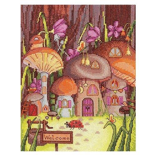 Купить Набор для вышивания Сделай своими руками Грибные домики , 16, 5*21 см (71128463384), Наборы для вышивания