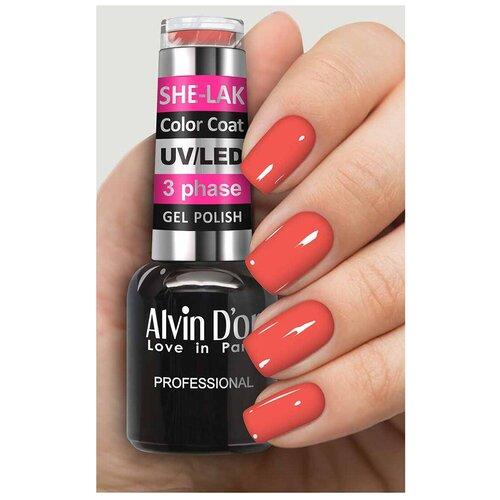 Купить Гель-лак для ногтей Alvin D'or She-Lak Color Coat, 8 мл, 3585