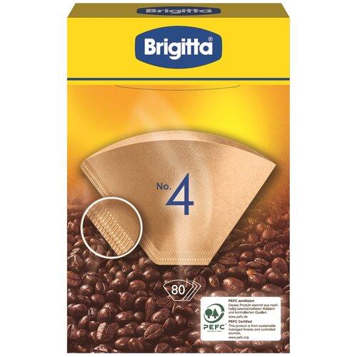 Одноразовые фильтры для капельной кофеварки Melitta Brigitta Размер 4, коричневый