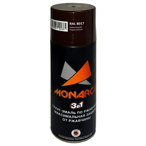 Грунт-эмаль Eastbrand Monarca по ржавчине 3 в 1 RAL 8017 шоколадно-коричневый 520 мл