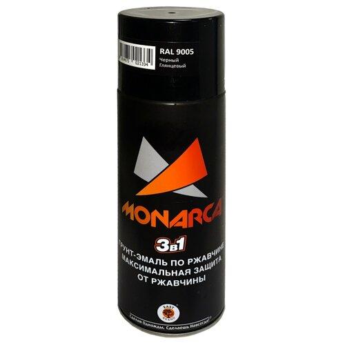Грунт-эмаль Eastbrand Monarca по ржавчине 3 в 1 RAL 9005 черный 520 мл