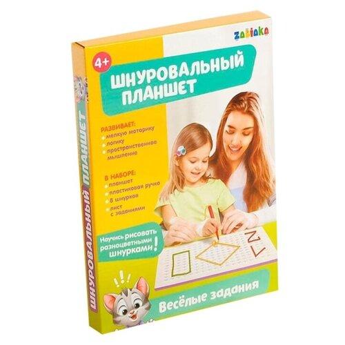 Купить ZABIAKA Шнуровальный планшет Весёлые задания 4437790, IQ-ZABIAKA, Шнуровки